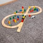 Деревянная игрушка «Железная дорога» 37х24х6 см