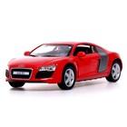 Машина металлическая Audi R8, 1:36, открываются двери, инерция, МИКС