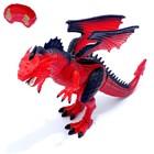 Динозавр радиоуправляемый «Дракон», эффект дыма, свет и звук, в пакете
