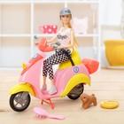 Кукла модель «Анна» на мопеде