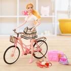 Кукла модель «Анна» на велосипеде, МИКС