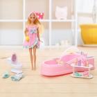 Кукла модель «Анна» с ванной, с аксессуарами