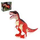 Динозавр «Рекс», эффект дыма, работает от батареек, световые и звуковые эффекты, МИКС