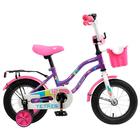 """Велосипед 12"""" Novatrack Tetris, 2020, цвет фиолетовый"""