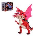 Динозавр «Рекс» работает от батареек, световые и звуковые эффекты, цвета МИКС