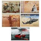 Альбом для рисования А4, 20 листов на скрепке, выборочный лак, фольгированный, микс из 5 видов