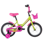 """Велосипед 14"""" Novatrack Twist, 2020, цвет зеленый"""