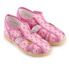 Туфли текстильные для девочек, р. 23 сердечко розовый