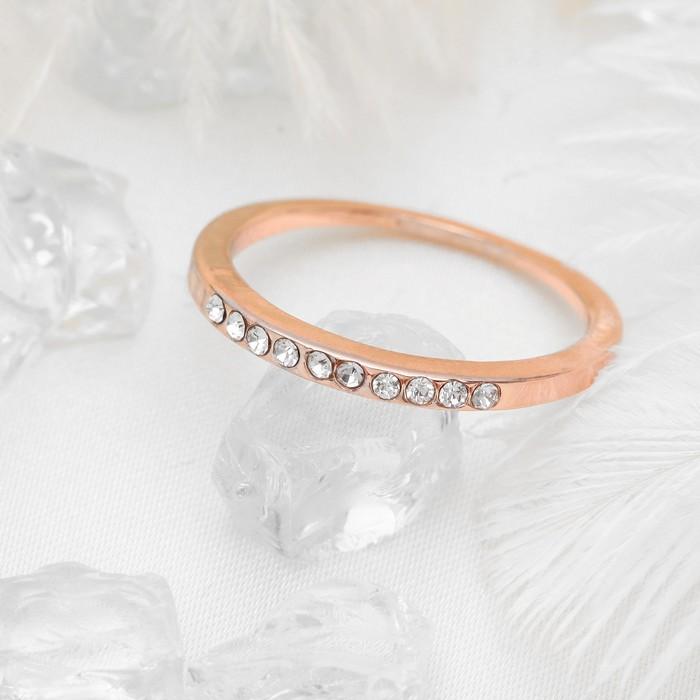 Кольцо Классика дорожка, цвет белый в золоте, размер 16
