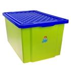 """Ящик для игрушек 57 л """"Лего"""" на колесах с крышкой, цвет фисташковый"""