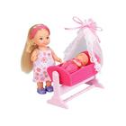 Кукла «Еви с пупсом в кроватке» 12 см, 7,5 см, МИКС