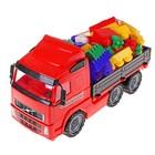 Автомобиль бортовой с конструктором «Супер-Микс», 60 элементов, цвета МИКС