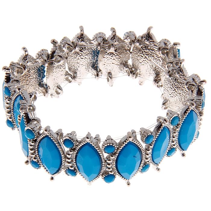 Браслет ассорти Царица, цвет голубой
