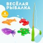 Игра «Весёлая рыбалка», удочка, 4 рыбки