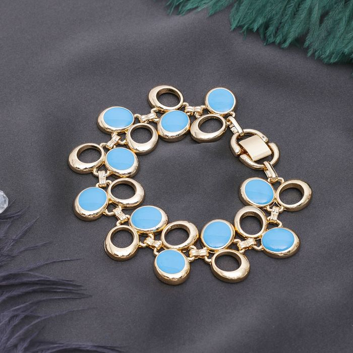 Браслет с эмалью Вулкан, цвет голубой