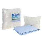 Комплект «Адамас»: 1,5сп одеяло, подушка 50х70см, микрофайбер, чехол однотон. МИКС