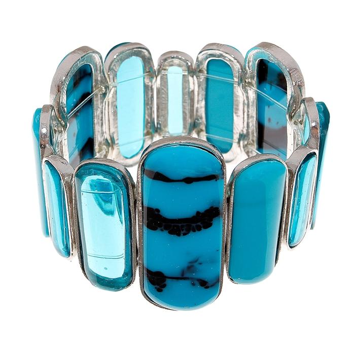 Браслет пластик Смежность, цвет голубой