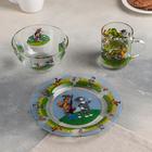 """Набор посуды """"Простоквашино"""", 3 предмета: кружка 200 мл, салатник 300 мл, тарелка d=20 см"""