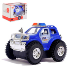 """Джип-перевёртыш """"Полиция"""", работает от батареек, световые эффекты, цвета МИКС"""