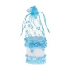 Бонбоньерка «Корзинка с мишкой и бантиком», цвет голубой