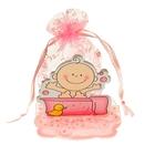 Бонбоньерка «Малыш в ванной», цвет розовый