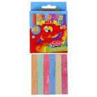 Мел школьный, цветной, набор 6 цветов по 2 шт., квадратный, беспыльный, в картонной коробке