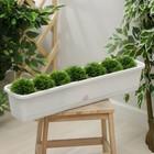 Балконный ящик 80 см с поддоном, цвет мраморный
