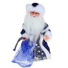 """Дед Мороз """"Шик"""", синяя шубка, пайетки, русская мелодия"""