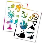 """3 гравюры и 2 трафарета """"Пираты"""" А4 с цветным основанием"""