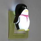 """Ночник """"Пингвин"""", чёрный, 1 LED"""